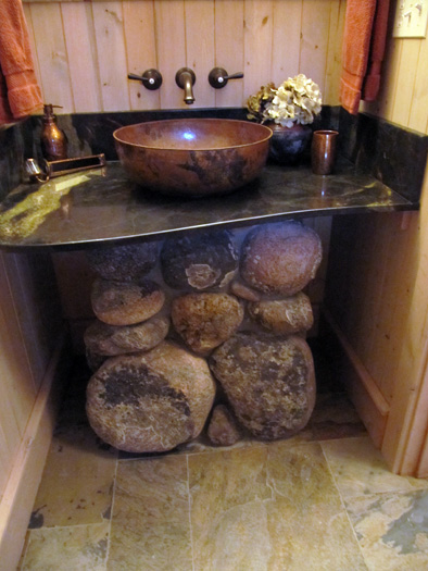 Rocks For Bathroom Sink : Bathrooms Slideshow - Hackbarth Construction