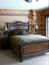 Log Home Bedroom, Big Sky