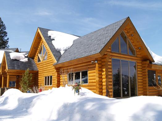 Exteriors slideshow hackbarth construction for Windows for log homes
