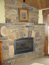 Log Home Custom Rock Fireplace in Big Sky, MT