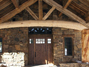 Big Sky MT Custom Log Home Entry Way