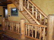 Big Sky MT Custom Log Staircase