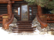 Big Sky MT Log Home Entry Way