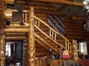 Bozeman, MT Log Home Stair Case