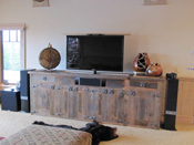 Custom Wood Entertainment Center, Big Sky MT
