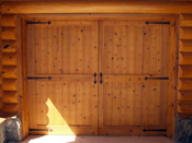 Montana Log Home Garage Door
