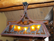 Pool Table Light with wilderness accents, MT
